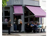 Café Assistant in Fulham, South West London, we will train you in all areas of the cafe.