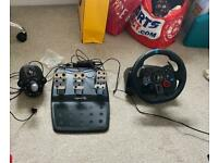 Logitech G29 Driving Force wheel, pedals and gear stick + ADX gaming chair