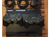 PlayStation (PS3) 500GB Super Slim Console + 2 controllers