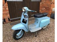 1966 lambretta starstream 125 4 speed scooter only 1338 j125 miles original paint mot uk reg 125cc