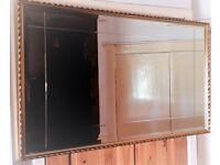 Vintage Ornate Bevelled Edge Etched Mantle Mirror