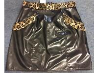 PVC Leopard Skirt - Brand new