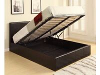 Double bed storage ottoman