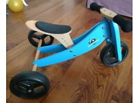 Wooden trike / balance bike (can be either) for toddler, hardly used outside, £65 new