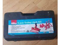 Hilka 5 pce 2 Tonne Trolley Jack Kit