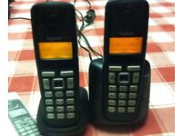 GIGASET A220A TWIN CORDLESS PHONES WITH ANSWERING MACHINE