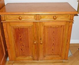 Antique Victorian Pine School Cupboard/linen/kitchen/larder cupboard