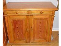 Antique Victorian Pine School Cupboard/linen/kitchen/larder cupboard