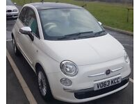 Fiat 500 lounge 63plate white for sale