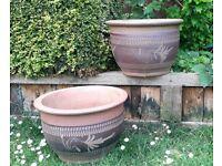 Pair Terracotta Garden Pots