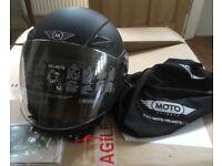 MOTO U-52 motorcycle helmet Black M - NEW