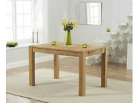 Modern Solid Oak 120cm Table and 4 Chairs