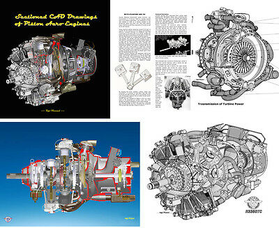EBOOK 3D CAD AIRPLANE PISTON ENGINE DRAWINGS & ANIMATIONS r-3350 a-80 if-750
