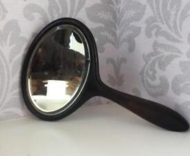 Antique c1910 Ebony Hand mirror Good Antique condition Wooden Anniversary