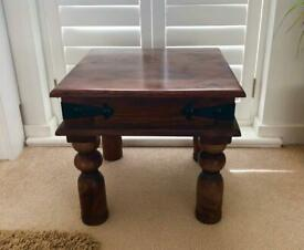 Solid Wood Side Tables (x2)