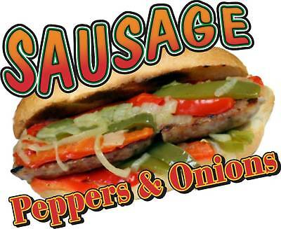 Sausage Peppers Onions Concession Food Truck Vinyl Menu Sticker Decal 14