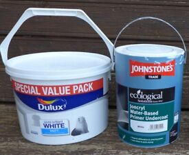White paints, 7.5L + 5L, may deliver for free N