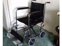 Wheelchair. light weight travel wheelchair.