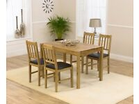 Modern 120cm Solid Oak table and 4 chairs