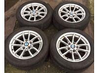 """16"""" Genuine BMW 1 Series F20 Alloy Wheels & Tyres 205/55R16 5x120 Fits 3 Z3 Z4 4 VW T5 Transporter"""