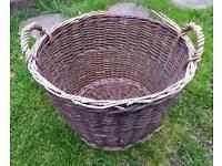 Large Vintage Willow Log/Storage Basket.