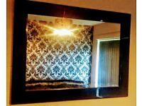 Black Shiney Living Room Mirror.