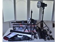 Interfit ex150 photography studio lighting flash kit