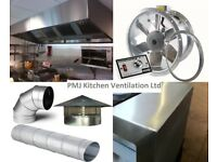 Extraction Canopy 2400 x 1100 x 500 Baffle Filters, Flakt Woods, Fan, Commercial Kitchen, Canopies
