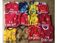 Arsenal football shirts
