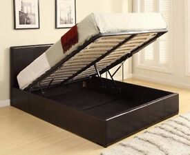 Brand New -- Double Leather Gas Lift Bed -- Same Day Delivery -- Get It Now
