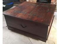 Indian solid wood coffee table trunk