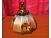 Hand Painted Hanging Glass Lampshade