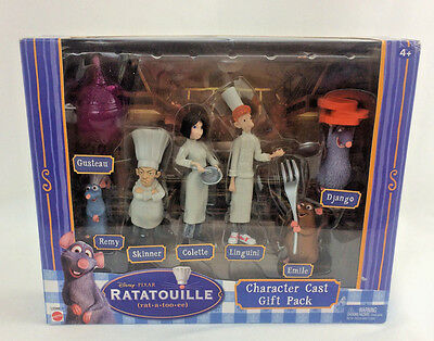 Disney Pixar Ratatouille Character Cast Gift Pack Toys Figures Remy Linguini