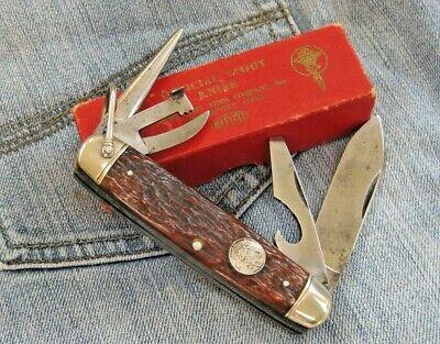 Vintage Remington RS3333 Official Scout Knife/Box