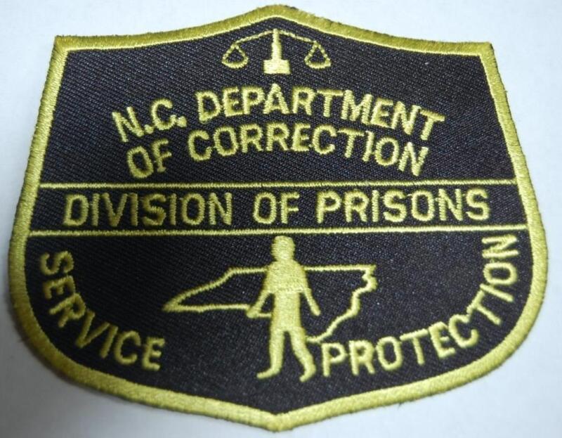 Vintage N.C. Department Of Correction Prisons Shoulder Patch Police Guard badge