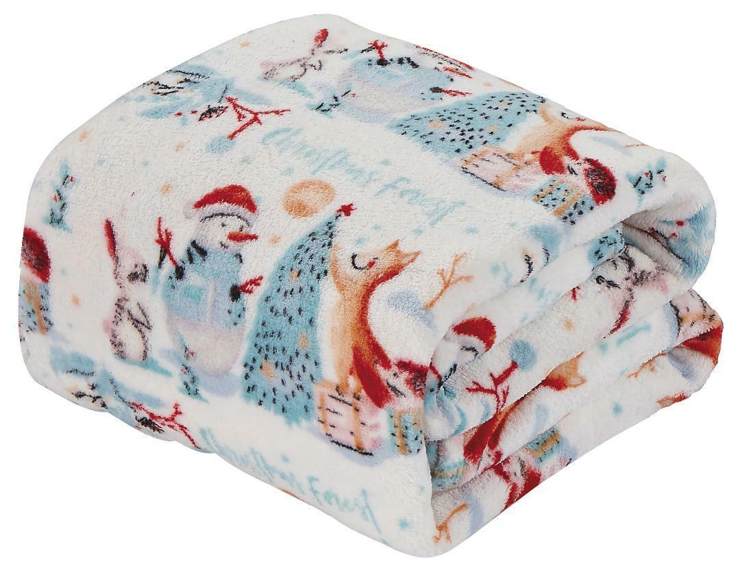 Ultra Soft /& Cozy Oversized Christmas Navy Polar Bear Plush Throw Blanket Cover