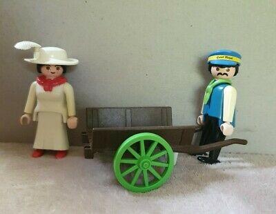 Playmobil Victorian Mansion 5300 Hotel Porter Lady Cart 5503 Vintage