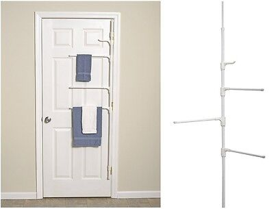 Pole Towel Caddy, Mounts In Bath Area Or Behind Door, Arms Store Towel Clothes