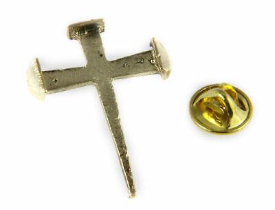 Christian Pins (6030273 Nail Cross Lapel Pin Jesus Christian Nails Brooch Tie)
