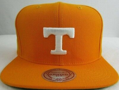 Tennessee Volunteers NCCA Mitchell & Ness Snapback Flat Brim Orange Hat - Tennessee Volunteers Hats