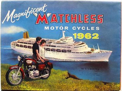 MATCHLESS Range - Motorcycle Sales Brochure - 1962