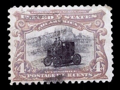 GM STAMPS - US Stamp - Scott 296 Electric Automobile - 1901 PAN AMERICAN - RARE