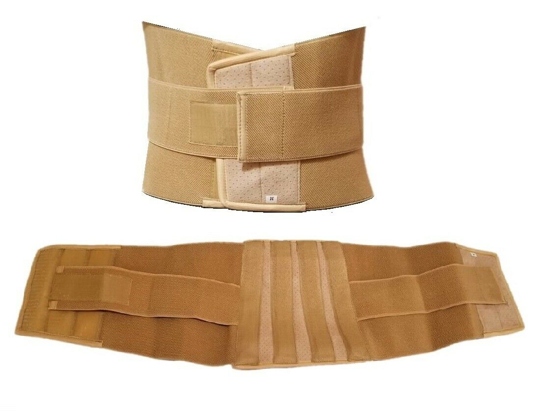 Contoured Lumbar Support Waist Brace Belt Lower Back Pain Re