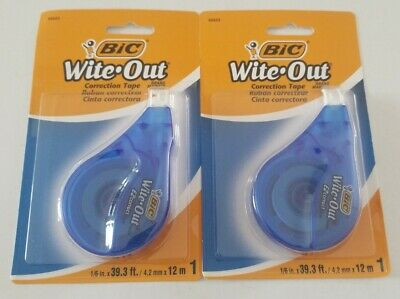 Bic Wite-out Ez Correction Tape - White 39.3 Ft. 2-pack Made In Japan Brand New