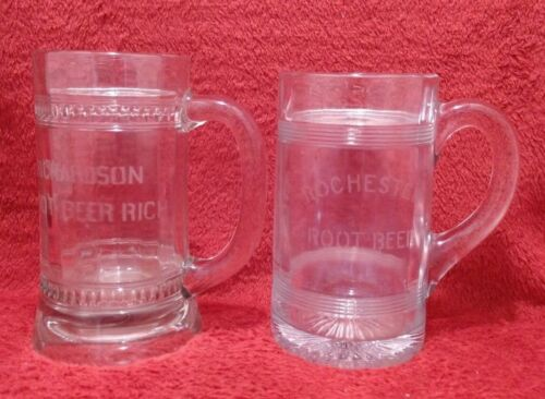 Vintage Richardson & Rochester Root Beer glass steins/mugs