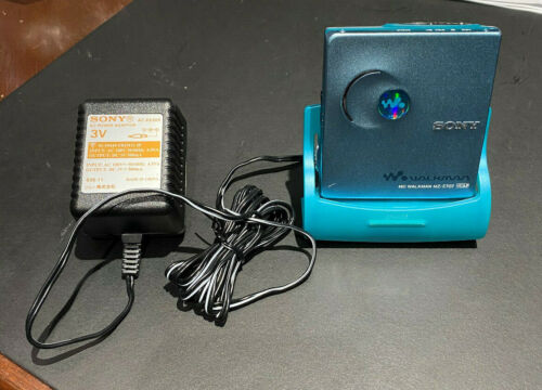 Sony Portable minidisc player type-R w/personal disc memory Md Walkman Mz-E707