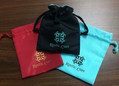 Set of 3 Rustic Cuff Nylon jewelry storage gift bags.