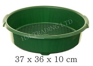37cm green plastic garden sieve riddle sifter for compost. Black Bedroom Furniture Sets. Home Design Ideas