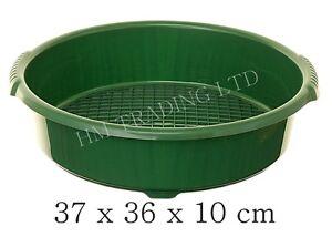 37cm green plastic garden sieve riddle sifter for compost. Black Bedroom Furniture Sets. Home Design Ideas