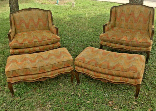 REDUCED! *Excellent Condition* Vintage Versailles Armchair With Ottoman